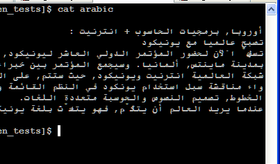 bidirectional Arabic text with shaping